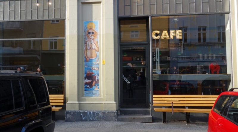 Exterior view from Cafe 9 in Berlin.