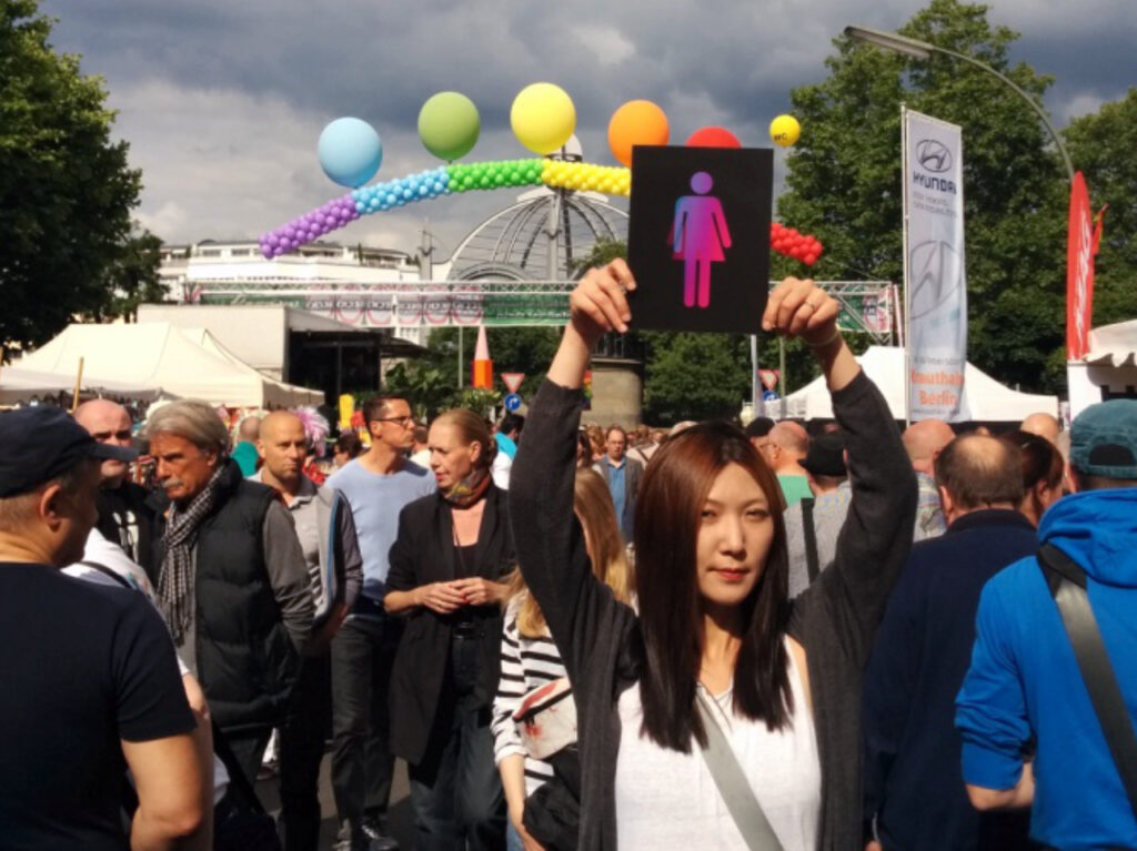 Shinhee Chae at Lesbian and Gay City Festival in Berlin 2015.