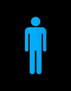 Bathroom sign man figure
