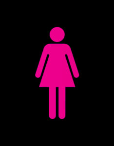 CO-WC toilet sign woman