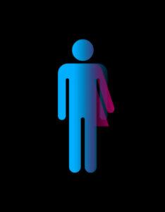 Gender-neutral bathroom sign