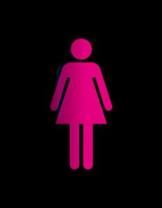 Toiletten-Zeichen Frau